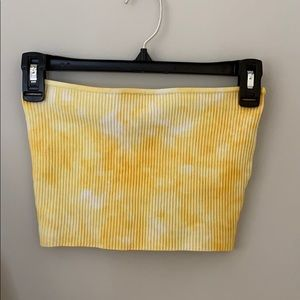 L.A. Hearts Yellow Tie-Dye Bandeau Top